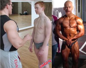 Vasakul: treener Ott Kiivikasega 2006 aastal. Paremal: Tallinna absoluutne meister 2014 aastal